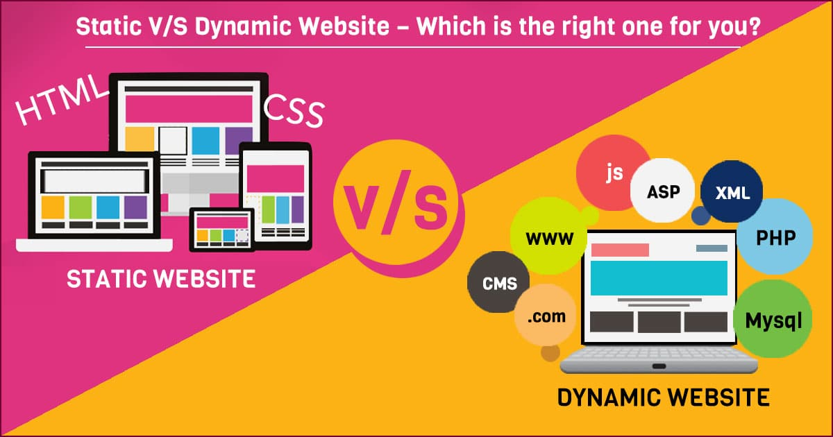 Static V/S Dynamic Websites – Which is the right one for you? 2