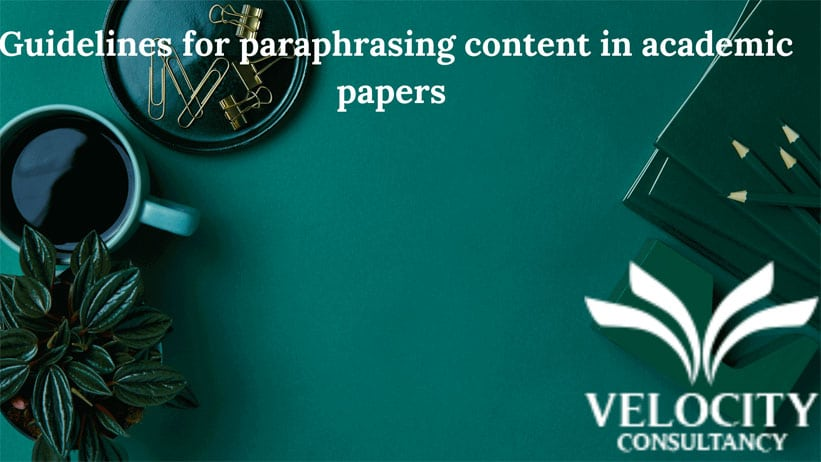 Guidelines for paraphrasing content